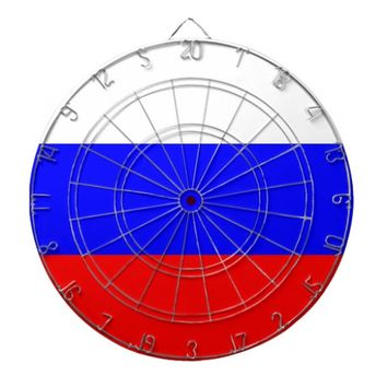 Dartboard with Flag of Russia