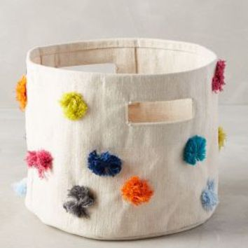 Rainbow Tufts Basket by Anthropologie