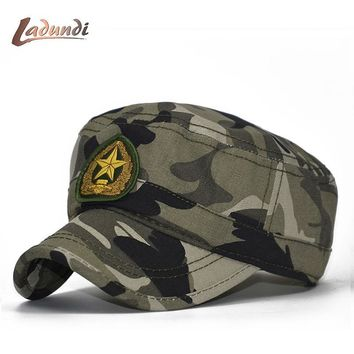 Trendy Winter Jacket LADUNDI 2018 Air Force Corp Army Flat Top hat Mens Caps Star Classic US Air Force Cap camouflage camo Baseball Hat Adjustable AT_92_12