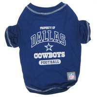 Dallas Cowboys NFL Dog Tee Shirt