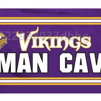 minnesota vikings flag 90*150cm60*90cm Size Polyster arty Banner Indoor and Outdoor A decorative banner flag
