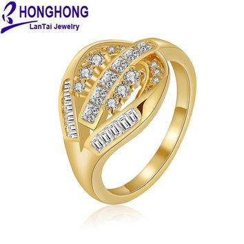 HONGHONG 2018 high-quality Cubic zirconia rings for women Female lord of the ring Party & Gift for girls Fashion jewelry