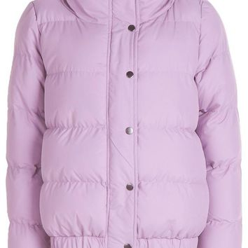 Rosa Padded Funnel Neck Coat | Boohoo