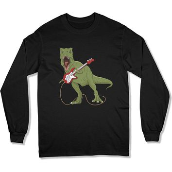 T-Rex Rocking Out Funny Guitar Player - T Shirt
