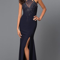 Sleeveless Floor Length Open Back Dress 381