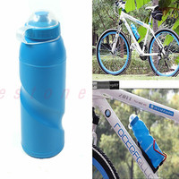 New Outdoor Sports Cycling Camping Bicycle Bike 700ml Sports Water Bottle Blue-Y103