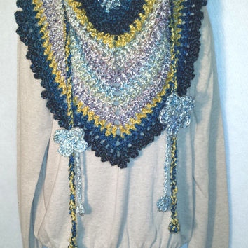 Indigo Blue Road Trip Scarf Ladies Scarf Scarves for Women Triangle Scarf Holiday Gift Birthday Valentines Mothers Day Sweetest Day
