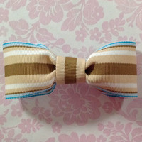 Bow Tie, Bowtie, Baby Bow Tie, Boys Bow Tie, Toddler Bow Tie, Clip On Bowtie, Sea Side Stripes Clip-On Bow Tie