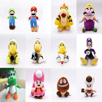Super Mario party nes switch  Brothers Plush YoShi Koopa Troopa With Hammer Boomerang Wario Waluigi Goomba Mushroom Old Man Toadette Hot Toys Baby AT_80_8