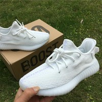 ADIDAS YEEZY BOOST 350 V2 KANYE WEST OREO CREAM-WHITE CP9366 RUNNING SHOES FOR WOMEN & MEN SIZE 36-46