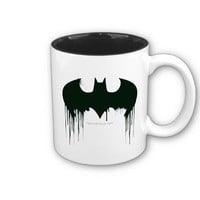 Bat Symbol - Batman Logo Spraypaint Coffee Mugs from Zazzle.com