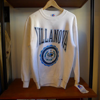 Deadstock VILLANOVA Sweatshirt Puffy Ink University crewneck College 80's Russell Athletic Sweats vtg villanova Wildcats sweatshirt catholic