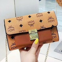 MCM fashion hot seller for ladies printed patchwork leather one-shoulder shopping bag