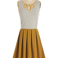 Mid-length Sleeveless A-line Glimpses of Sun Dress