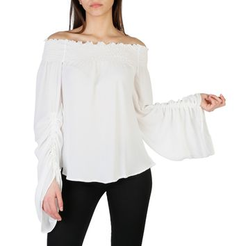 Imperial White Boat Neck Long Sleeve Shirt