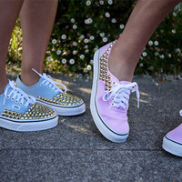 Unisex CUSTOM STUDDED VANS you choose shoe colour and studs colour