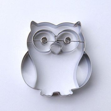 AMW 3D Cartoon Owl Shaped Stainless Steel Cookie Cutter Biscuit Mold Cookies Tools