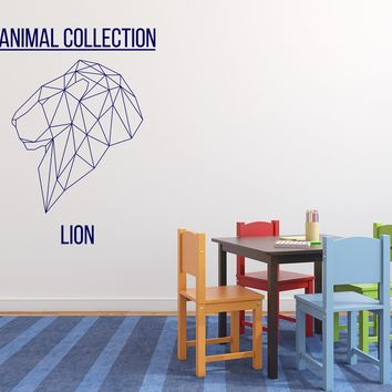 Vinyl Decal Wall Sticker Animal Collection Geometric Image Lion Unique Gift (n810)