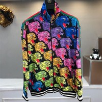 2018 new fashion famous brand designer clothing arrival sweatshirts hoodies for men colorful tiger print cotton
