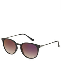 Walt Round Sunglasses - Black