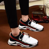 Gucci small bee sports shoes men's casual tide shoes 2018