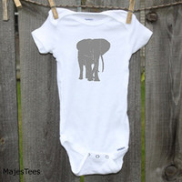 Safari Elephant Onesuits®, Elephant Baby Shower
