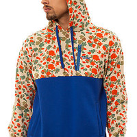 The Suspect Pullover Hoody in Royal and Camo