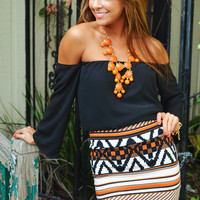 Make Me Part Of The Tribe Skirt: Orange | Hope's
