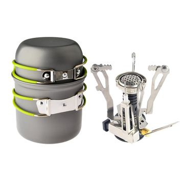 Outdoor Cookware Tool Set + Ignition Canister Stove