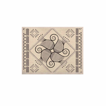 "Famenxt ""Paisley Into The Dream"" Beige Pattern KESS Naturals Canvas (Frame not Included)"