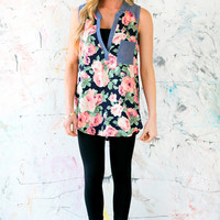 Chambray & Roses Blouse