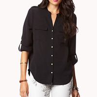 Essential Georgette Buttoned Top