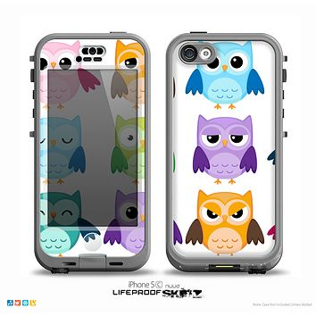 The Emotional Cartoon Owls On White Skin for the iPhone 5c nüüd LifeProof Case