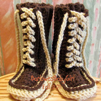 Buggs    Toddler Crocheted Ugg Inspired Lace by BarlowesBabyGirl