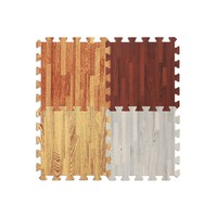 10 Piece Wood Texture Crawling Play Foam Puzzle Play Mat
