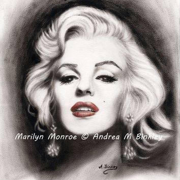 Marilyn Monroe, Marilyn Oil Painting, 16x20 inch Marilyn Monroe Gallery Wrapped Canvas Print, Marilyn Wall Decor, Home Decor, FREE SHIPPING