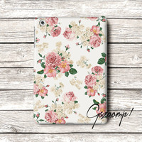 Cute Flower Pattern iPad Air Case, iPad Case, iPad 2 Case, iPad 3 Case, iPad 4 Cover, iPad 5 Case, iPad Mini case, iPad Mini 2 Case