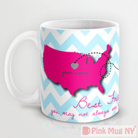 Custom PinkMugNY design coffee mug- Long Distance Love - Best Friends #8