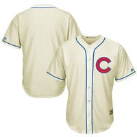 Men's Chicago Cubs Majestic Cream Cool Base Ivory Fashion Team Jersey