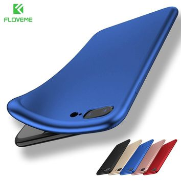 FLOVEME Soft Silicone Cases For iPhone 5s 5 SE 6s 6 Matte Smooth Back Cover Phone Cases For iPhone X 8 7 Plus 6s 6 Plus Capinhas