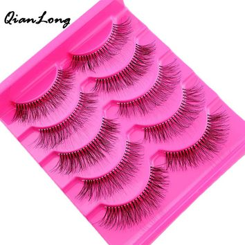 5 Pairs Natural Sparse Cross Eye Lashes Extension Hot Sale Beauty Makeup Long Fake False Eyelashes Thick Beam Drop Shipping