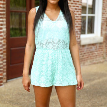 dare to be detailed romper - mint