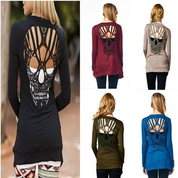 Skull Long Sleeve Jacket [7322492865]