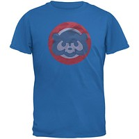 Chicago Cubs - Circle Bear Logo Soft T-Shirt