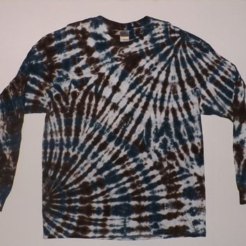 Double Swirl Long Sleeve Tie Dye T-Shirt - Choose Any Size & Colors
