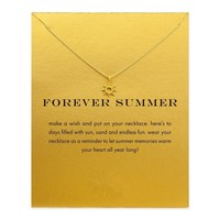 Gift New Arrival Stylish Shiny Jewelry Summer Gold Alloy Lock Necklace [11972226511]