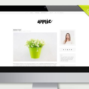 "Simple & Clean Blogger Template Design - ""Annie"" 