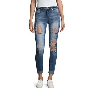 Indigo Rein Destructed Skinny Fit Jeans-Juniors - JCPenney