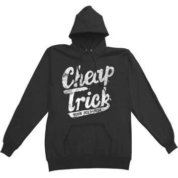 Cheap Trick Men's  North America Hooded Sweatshirt Black Rockabilia