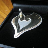 Heart Gold, Shiny Ho-Oh Wings Sterling Silver Pendant
